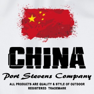 China Flag Logo  T-Shirts - Turnbeutel
