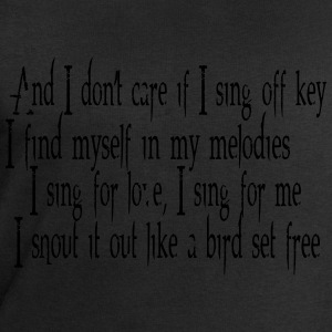 SIA Lyrics: Bird Set Free T-shirts - Sweatshirt herr från Stanley & Stella