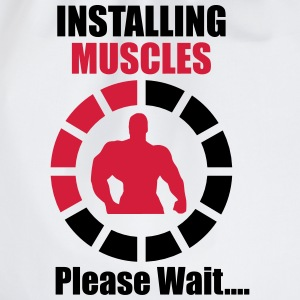 Installing muscles - funny gym  - Turnbeutel