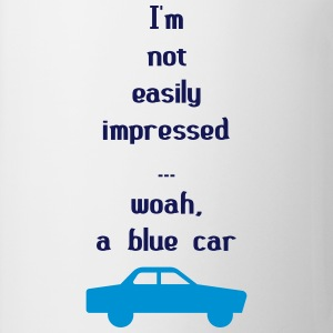 I'm Not Easily Impressed ... Woah, A Blue Car! Knuffeldieren - Mok