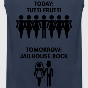 Today: Tutti Frutti – Tomorrow: Jailhouse Rock T-Shirts - Men's Premium Tank Top