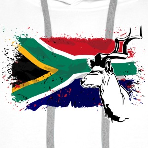 Antelope - South Africa Flag - Antilope T-Shirts - Männer Premium Hoodie