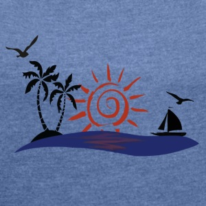 Hawaii Sunset Bags & Backpacks - Women's T-shirt with rolled up sleeves