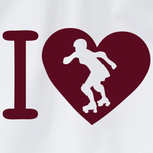 love liebe roller derby heart 1 T-Shirts - Turnbeutel