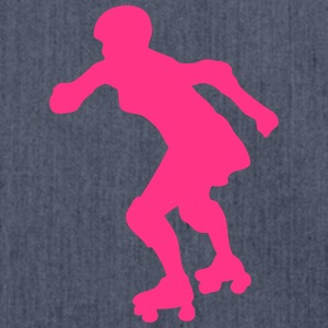 roller derby frau silhouette 10 T-Shirts - Schultertasche aus Recycling-Material