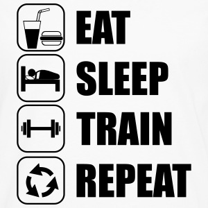 Eat,sleep,train,repeat - Maglietta Premium a manica lunga da uomo