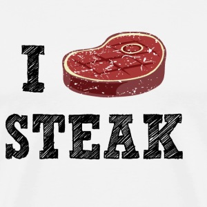 I Love Steak  Aprons - Men's Premium T-Shirt