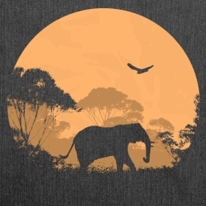 Elephant - Elefant  T-Shirts - Schultertasche aus Recycling-Material