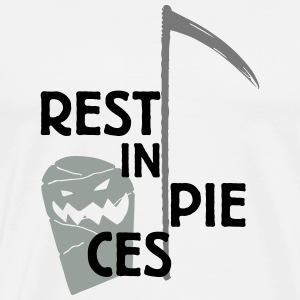 Halloween Rest in pieces Untersetzer - Männer Premium T-Shirt