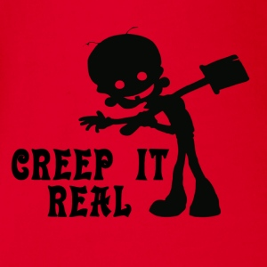 Creep it Real Long Sleeve Shirts - Organic Short-sleeved Baby Bodysuit