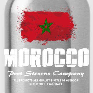 Morocco Flag Logo T-Shirts - Trinkflasche