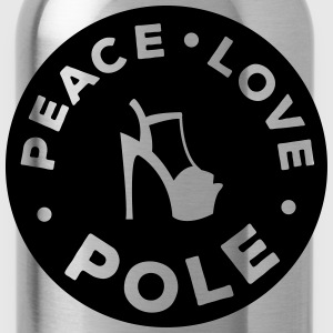 peace - love - pole dance T-shirts - Vattenflaska