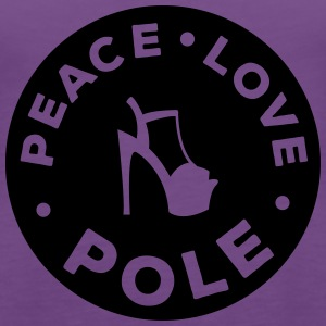 peace - love - pole dance T-Shirts - Frauen Premium Tank Top