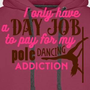 i have a day job to pay for pole dance Camisetas - Sudadera con capucha premium para hombre