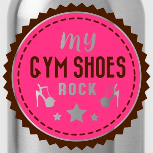 my gym shoes rock - pole dance Magliette - Borraccia