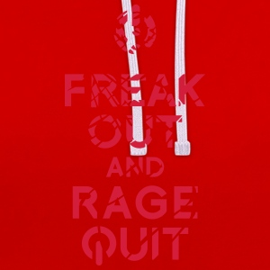 keep calm rage quit T-Shirts - Contrast Colour Hoodie