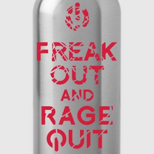 keep calm rage quit gaming T-Shirts - Trinkflasche
