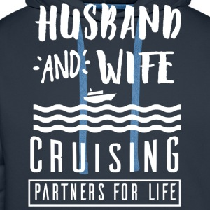 Husband and wife T-Shirts - Men's Premium Hoodie