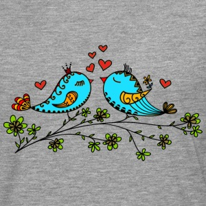 Birds in love hearts, Valentines day, birdie, cute Tee shirts - T-shirt manches longues Premium Homme
