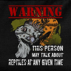 Warning! This person may talk about reptiles at an - Kids' Backpack