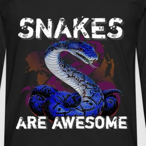 Snakes are aswesome - Men's Premium Longsleeve Shirt
