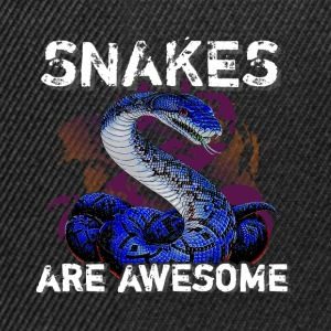 Snakes are aswesome - Snapback Cap
