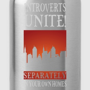Introverts unite! Separately in your own homes - Water Bottle