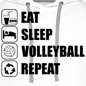 Eat,sleep,VolleyBall,repeat - Herre Premium hættetrøje