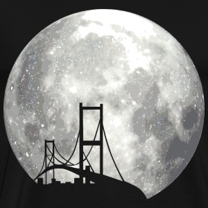 full moon with bridge Pullover & Hoodies - Männer Premium T-Shirt