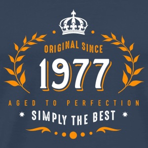 original since 1977 simply the best 40th birthday - Männer Premium T-Shirt
