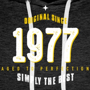 original since 1977 simply the best 40th birthday - Männer Premium Hoodie