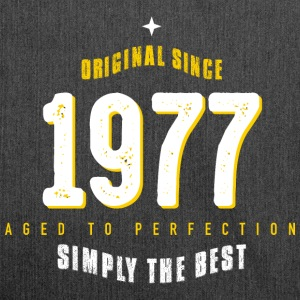 original since 1977 simply the best 40th birthday - Schultertasche aus Recycling-Material