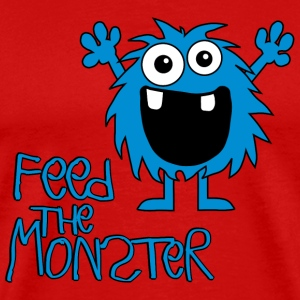 Feed the Monster - Blau - Kinder Langarmshirt - Männer Premium T-Shirt