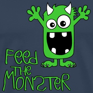 Feed the Monster - Grün - Kinder Langarmshirt - Männer Premium T-Shirt