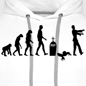 Evolution Zombie - Halloween - Sweat-shirt à capuche Premium pour hommes