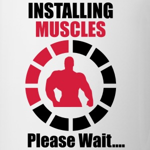 Installing Muscles - Gym T-shirt - Taza