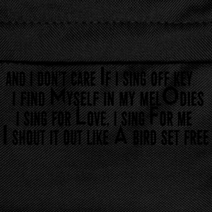 SIA Lyrics: Bird Set Free T-shirts - Ryggsäck för barn