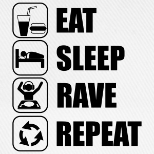 Eat,sleep,Rave,repeat - Baseballkappe