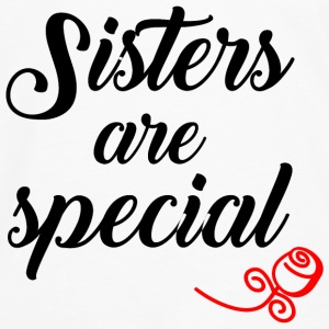 Sisters are Special black T-Shirts - Männer Premium Langarmshirt