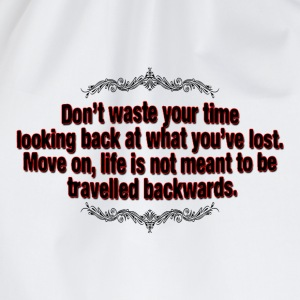 don't waste your time T-Shirts - Drawstring Bag