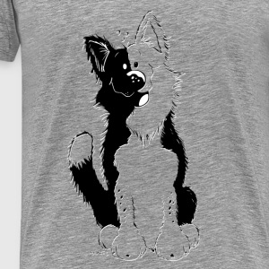 Söt Border Collie Toppar - Premium-T-shirt herr