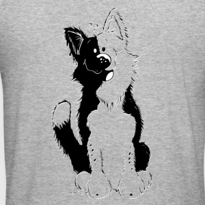 Cute Border Collie Sweat-shirts - Tee shirt près du corps Homme
