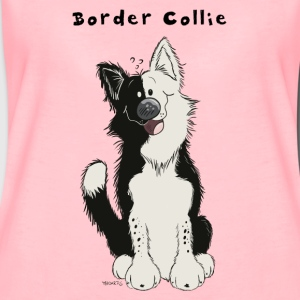 Söt Border Collie Babybody - Premium-T-shirt dam