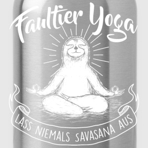 Faultier Yoga Meditation - Trinkflasche