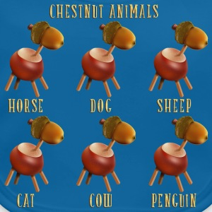 chestnut_animals_10_201601 T-Shirts - Baby Bio-Lätzchen