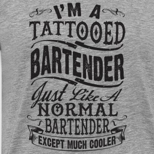 TATTOOED BARTENDER WOMEN PREMIUM LONG SLEEVE TEE - Men's Premium T-Shirt