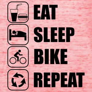 Eat,sleep,bike,repeat Fahrrad T-shirt - Dame tanktop fra Bella