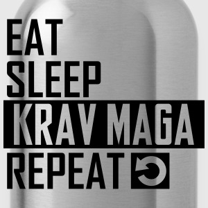 eat sleep krav maga T-Shirts - Trinkflasche
