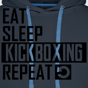 eat sleep kickboxing T-Shirts - Männer Premium Hoodie