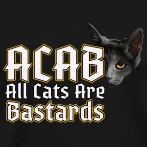 All Cats Are - ACAB Bags & Backpacks - Men's Premium T-Shirt